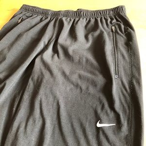NIKE Dry Fit Running Workout Pants Men's Black